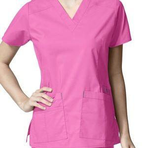 Wonder Wink Bright Pink Scrub set
